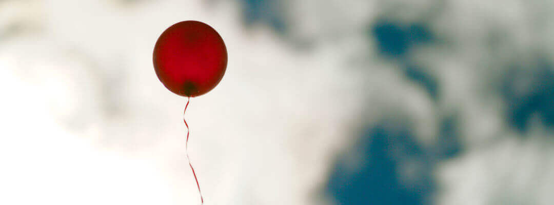 Balloon floating into the sky