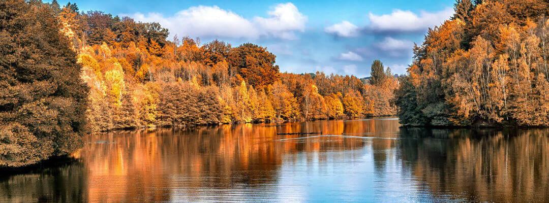 A quiet lake in autumn