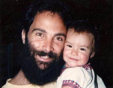 Prem Carlisi with his daughter