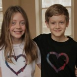 Kids T-shirt Heart Black, Heart White