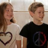 Kids T-shirts Peace Black, Heart White