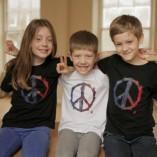 Kids T-shirts Peace Black and White