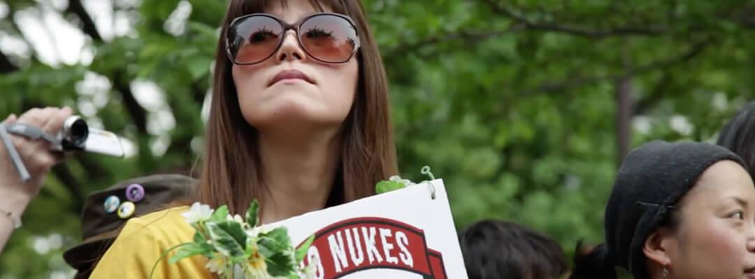 Japanese anti-nuclear demonstrator