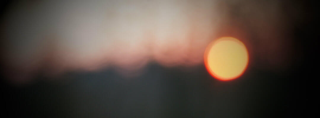 Abstract image of a sunset