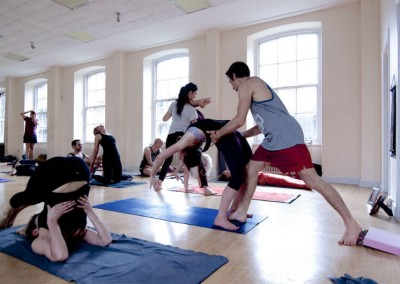 yoga teachers and students at SYL's Spring Gathering